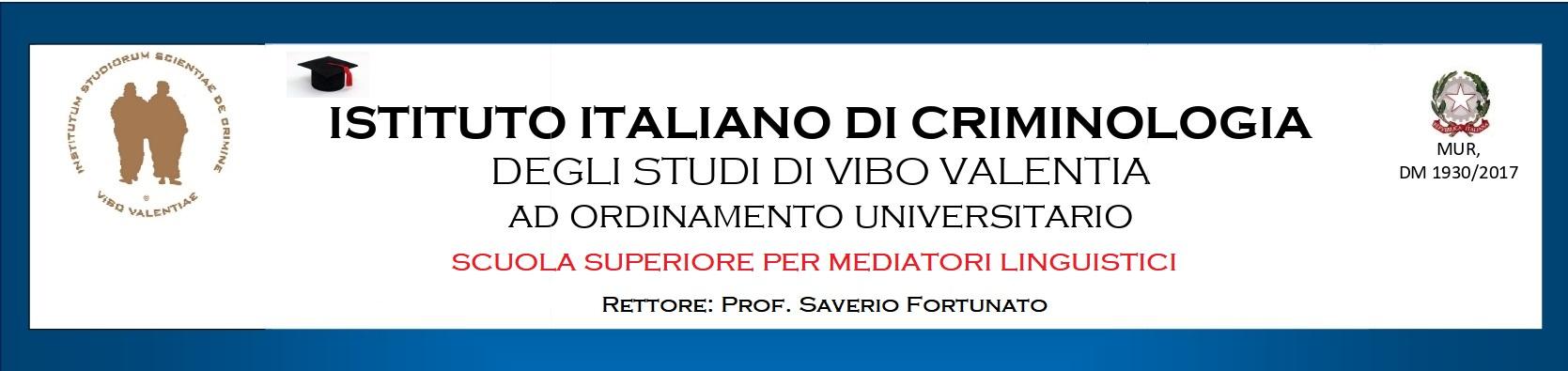 Istituto Italiano Di Criminologia Degli Studi Di Vibo Valentia